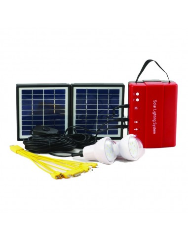 RG142-016C PORTABLE SOLAR LIGHTING SYSTEM 4W