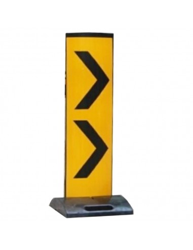 P.E. PANEL WARNING SIGN WITH RUBBER BASE 1.5 MTR